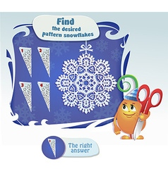 Find the desired pattern snowflake vector