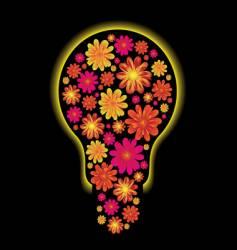 Floral bulb vector