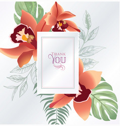 floral greeting or invitation card template vector image