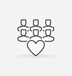 followers or audience concept icon in thin vector image