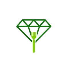 Fork diamond logo icon design vector