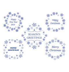 frames with snowflakes - xmas decorations vector image