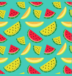 Fruity pattern on a blue background vector