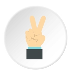 Gesture victoria icon flat style vector