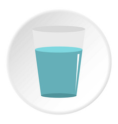 Glass water icon circle vector