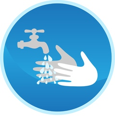 Hand washing sign vector