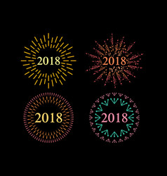 happy new 2018 year holiday vector image