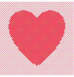 heart shaped background design from red diagonal vector image