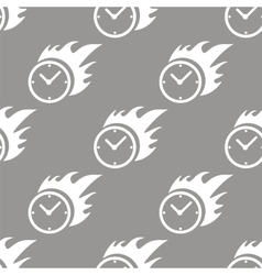 Hot clock seamless pattern vector