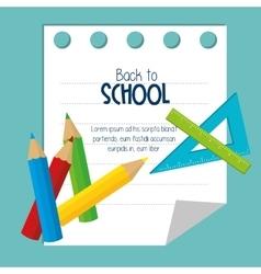 icons tool study school design vector image