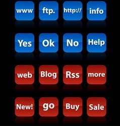 Internet buttons vector
