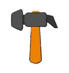 isolated hammer design vector image