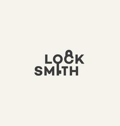 Locksmith lettering logo vector