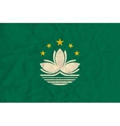 Macau paper flag vector
