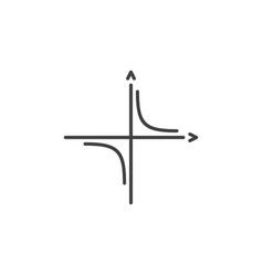 Mathematics coordinate axis outline concept vector