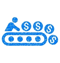 Money Production Grainy Texture Icon vector