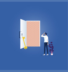 No way out business concept -obstacle trapped vector