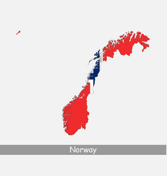 norway map flag vector image