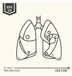 One icon Artificial lungs vector image