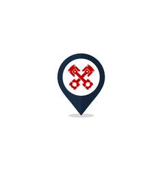 pin automotive logo icon design vector image