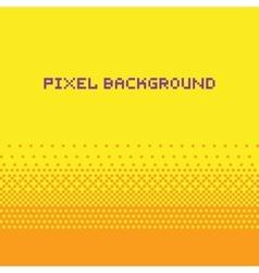 Pixel art style gradient background yellow vector