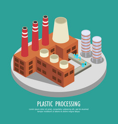 reprocessing plastics background composition vector image