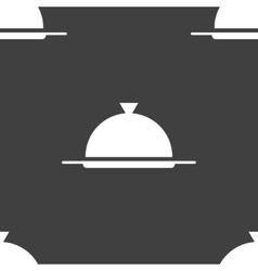 Restaurant cloche web icon flat design Seamless vector image
