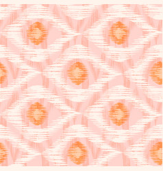 retro ikat pattern vector image