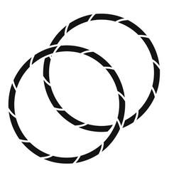 Rhythmic gymnastics hoop icon simple style vector