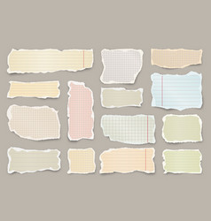 ripped colorful paper strips realistic crumpled vector image