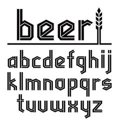 Sans serif decorative font beer vector