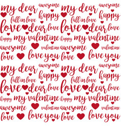 Seamless pattern with lettering quotes vector