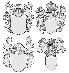set aristocratic emblems no8 vector image