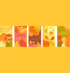 set autumn abstract backgrounds vector image