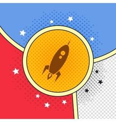 space shuttle rocket vector image