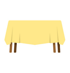 Table with tablecloth isolated furniture on white vector