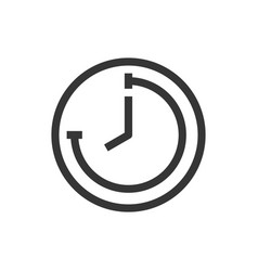 time and clock line style isolated icon vector image