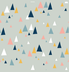 triangle mountains seamless pattern teal vector image