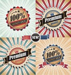 Vintage quality guarantee labels vector
