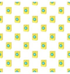 Washing machine pattern cartoon style vector