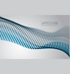 wave of particles blurred bubbles or circles vector image
