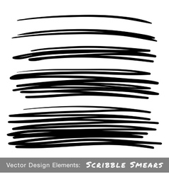 Set of Hand Drawn Scribble Smears vector image vector image