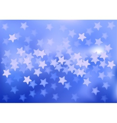 Blue festive lights in star shape background vector image vector image