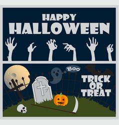 happy halloween trick or treat vector image vector image