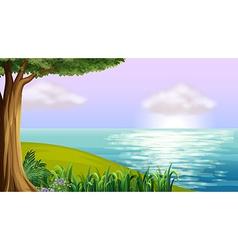 A clear blue sea vector image vector image