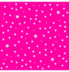 Star polka dot pink background vector