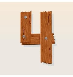 wooden type 4 vector image vector image