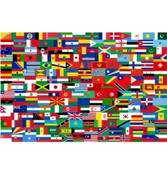 all flags of all countries in one vector image vector image