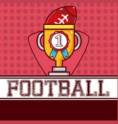 american football sport vector image