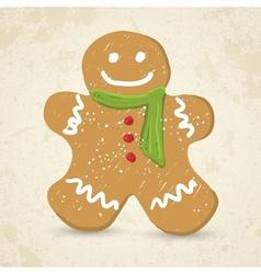 Doodle Gingerbread man vector image vector image